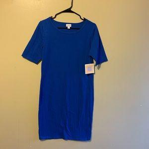 NWT LulaRoe Julia Dress Blue Large
